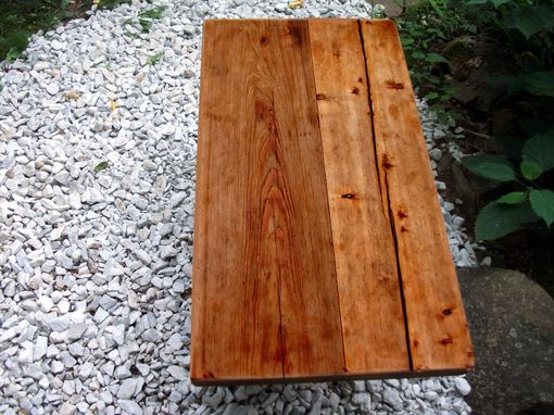 Custom Made Outdoor Meditation Bench From Reclaimed Barn Wood