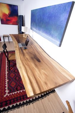 Custom Made Live Edge Wood Slab Table - Perfect As Large Dining Table / Conference Table