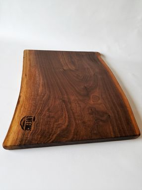 Custom Made Large Wood Server- Serving Board- Charcuterie Board- Food Server- Black Walnut- Food Safe- Tapas