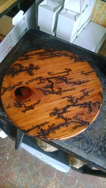 Custom Made Electric Art Wood Carving, Burning 12