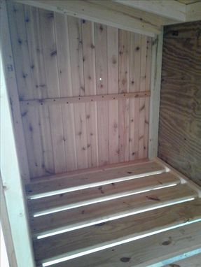 Custom Made Outdoor Western Red Cedar Storage Unit