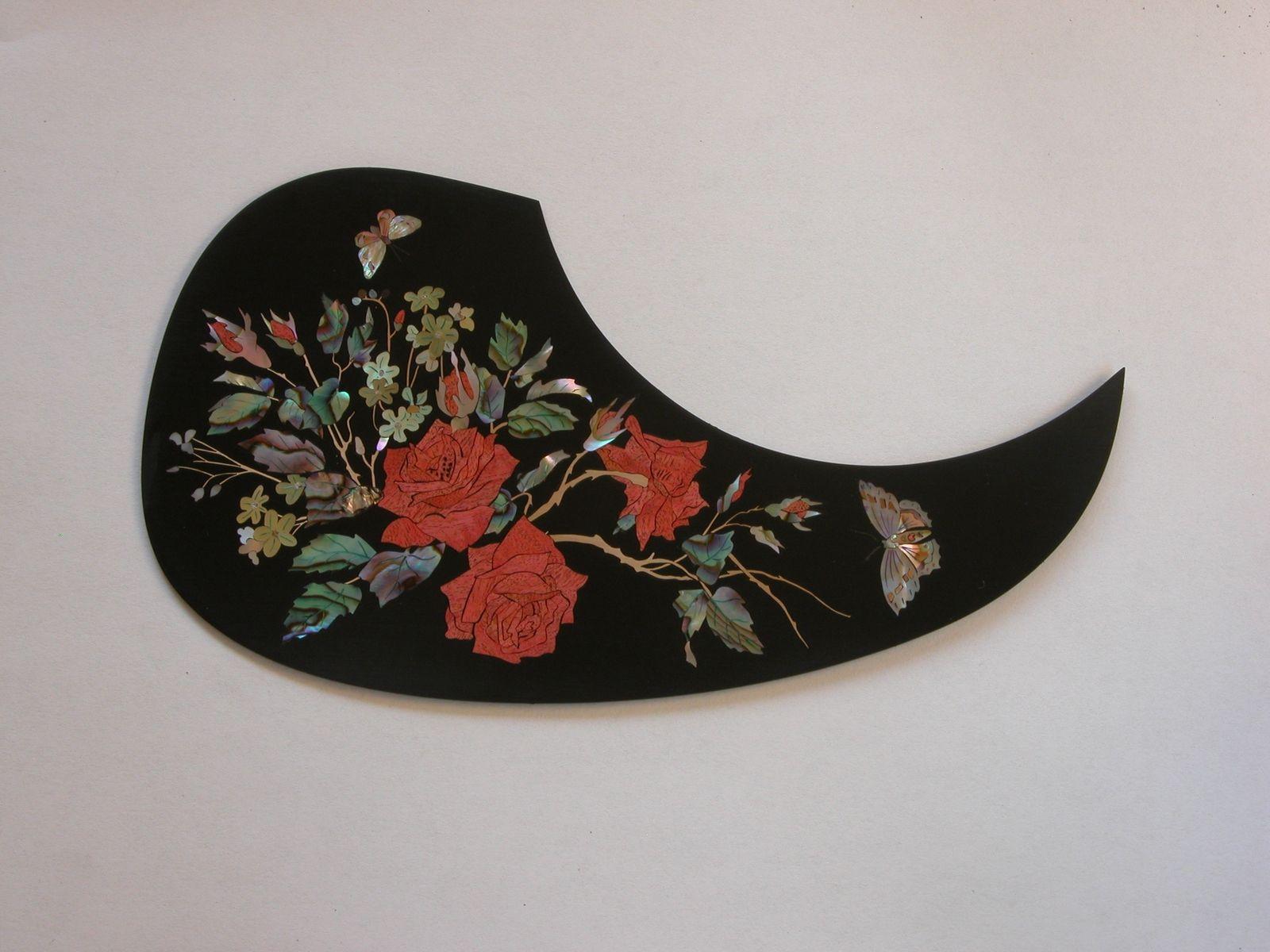 Custom Made Rose Pickguard By Robinson Custom Inlays