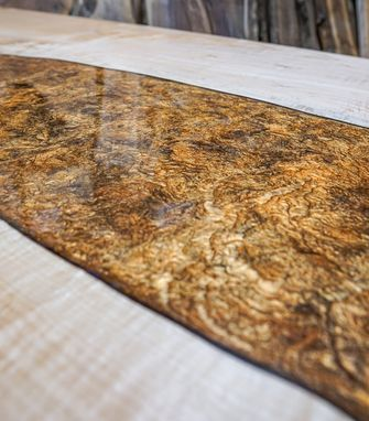 Custom Made Maple River Table - Epoxy - Dining Table - Multi Tone Color