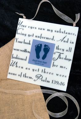 Custom Made Psalm 139 Fused Glass Memorial Wall Art