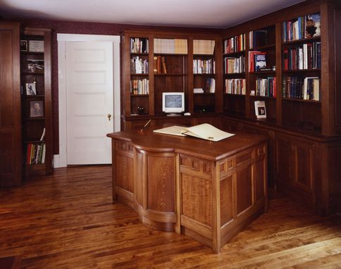 Custom Made Home Office Desk With Bookcases