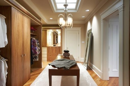 Custom Made Modern Zebrawood Dressing Room