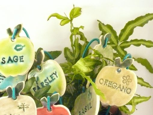 Hand Made 12 Herb Garden Plant Markers Ready2ship Ceramic Garden – Garden Plant Signs