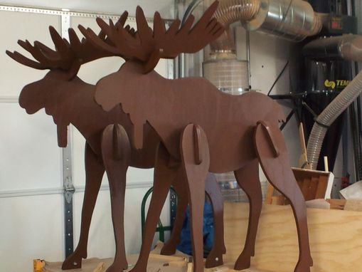 Custom Made Lawn Moose Decoration