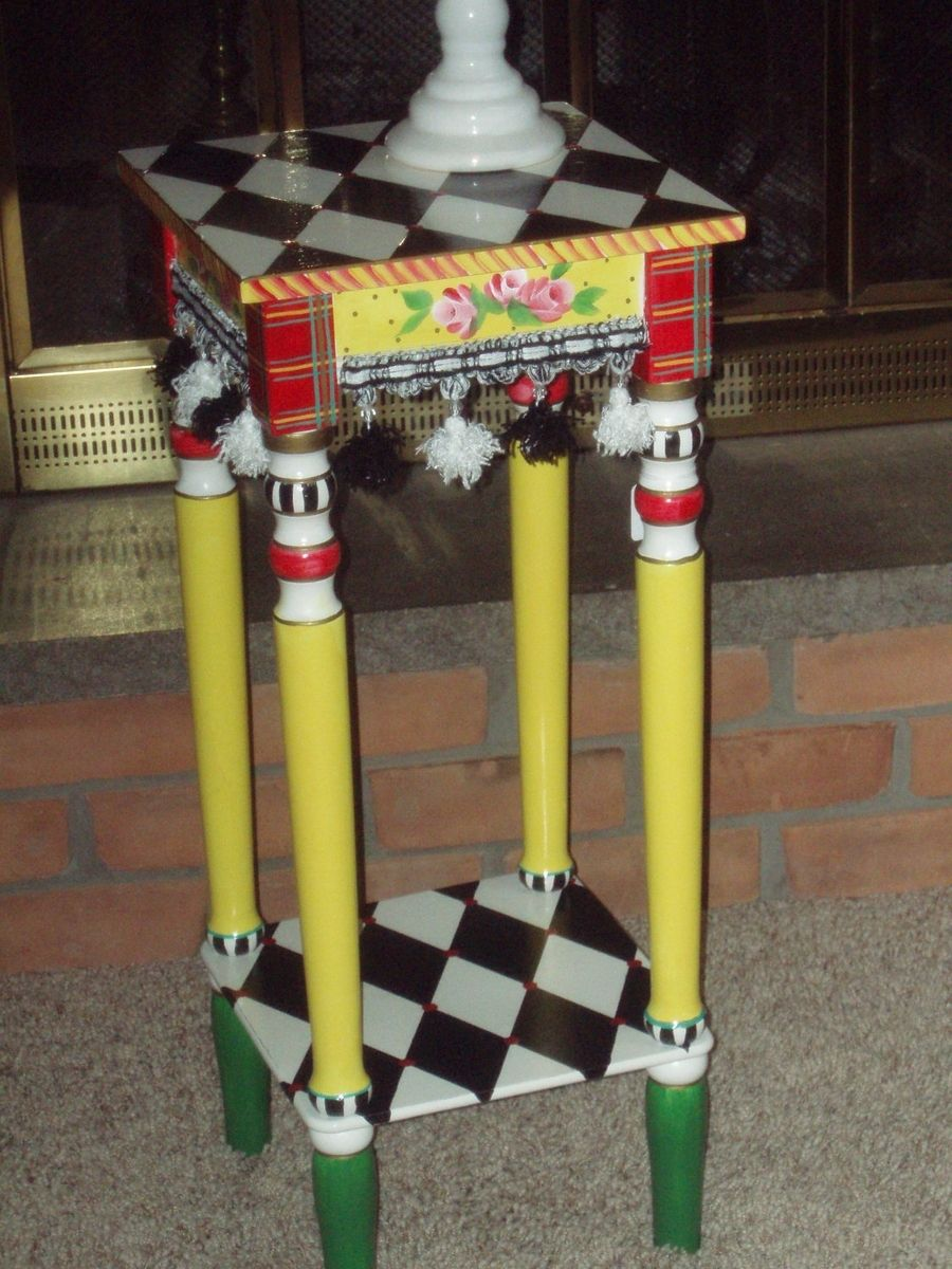 Buy A Custom Hand Painted Side Table Harlequin Side Table