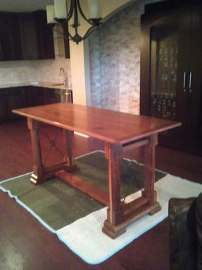 Custom Made Walnut Wine Tasting Table