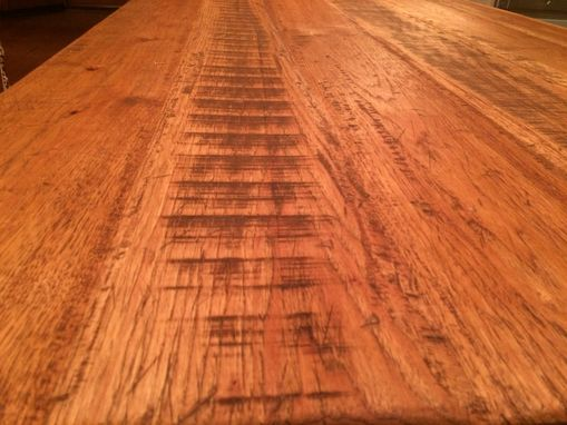 Custom Made Custom Wide Plank Hickory Countertop