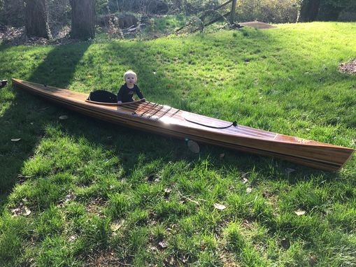 Custom Made Piper - A Cedar Strip Kayak Built To Look Good On And Off The Water.
