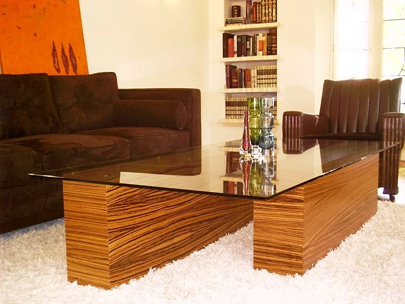 hand made zebra wood coffee tablejeffrey scott designs