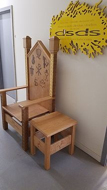 Custom Made Presider's Chair, Celebrant's Chair, Liturgical Furniture, Church Furniture