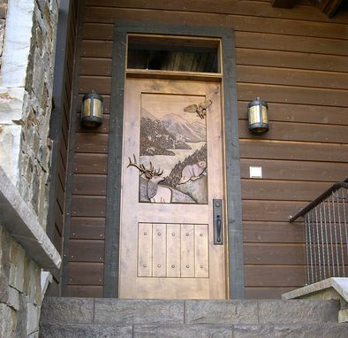 Custom Hand Carved Entry Door By Christie S Wood And Glass