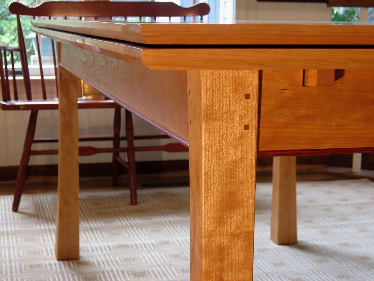 Dining Table With Leaves That Pull Out hand crafted 'dutch pull out' dining tablejoseph murphy