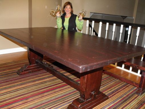 Custom Made Pedestal Table Adds Natural Elegance To Your Home