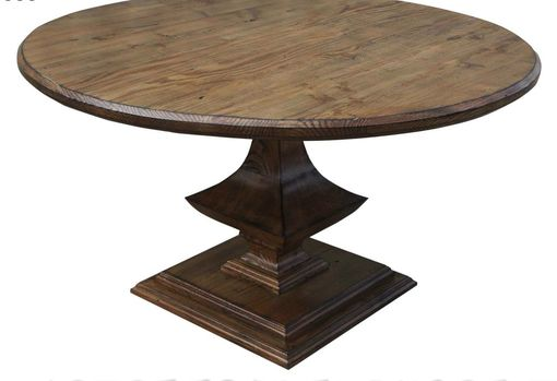 Custom Made Algonquin Round Trestle Dining Table
