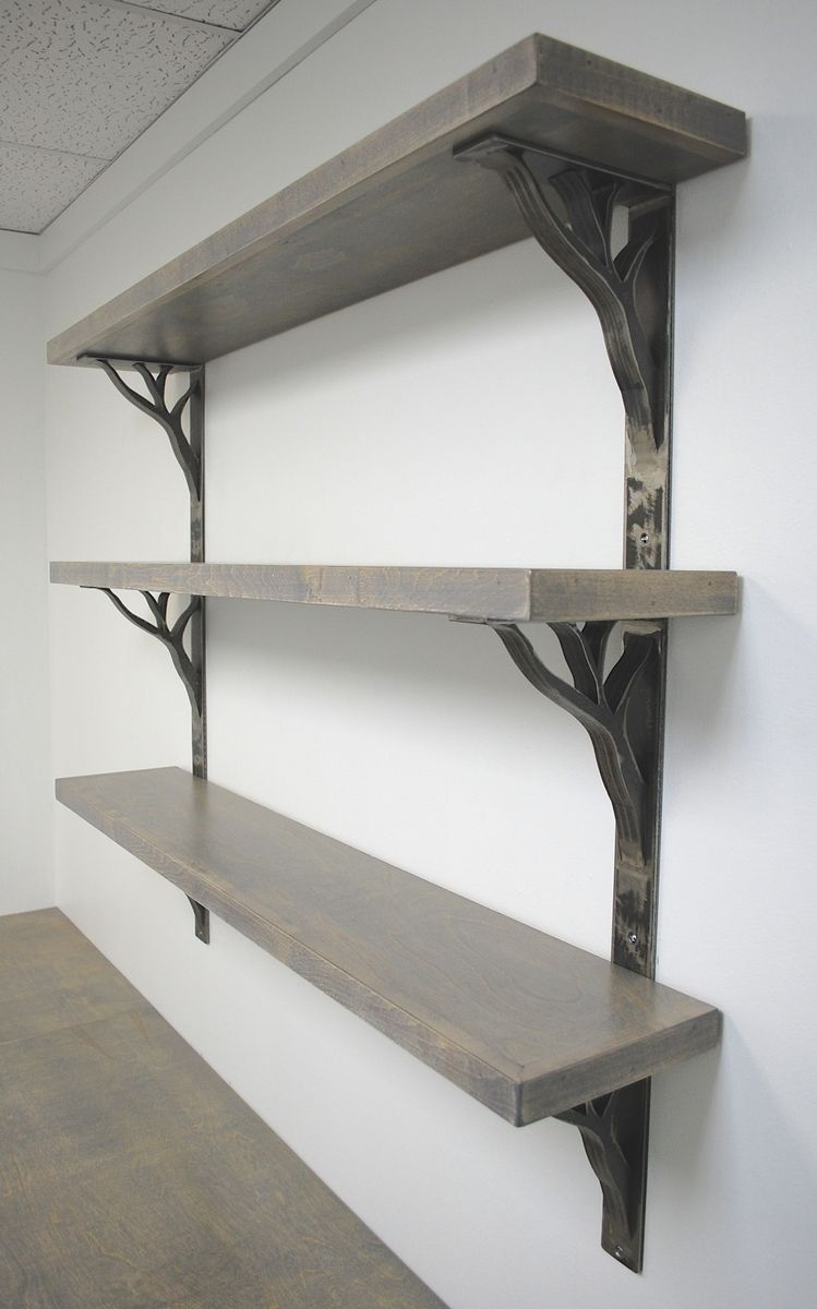 Custom Iron Linear Shelf Brackets By Urban Ironcraft