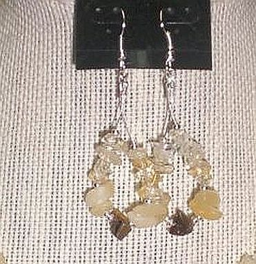 Custom Made Bronzite Pendant & Natural Gemstone Chip Necklace Set