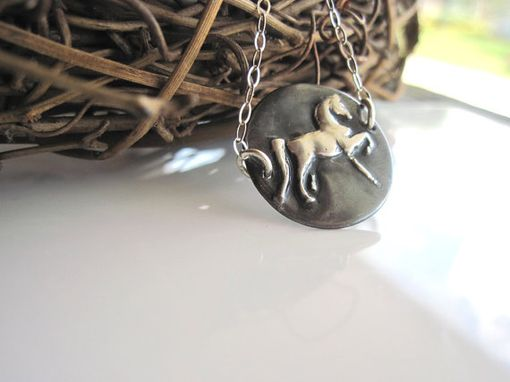 Custom Made Fine Silver Horse Pendant Necklace