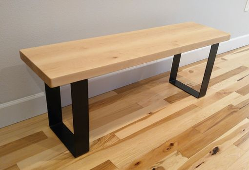Custom Made (Free Shipping) Urban Industrial Entryway Bench -Natural