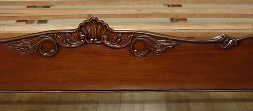 Custom Made Solid Mahogany Queen Panel Bed