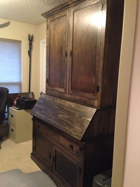 Custom Made Custom Desk And Storage Unit