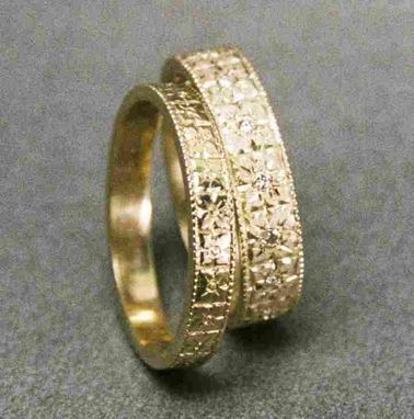 Custom Made 14kt Engraved Wedding Bands