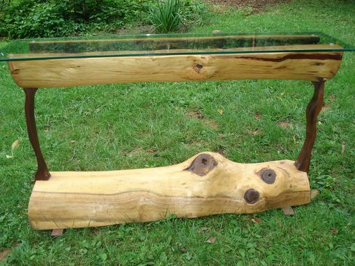 Custom Made Log Sofa Table