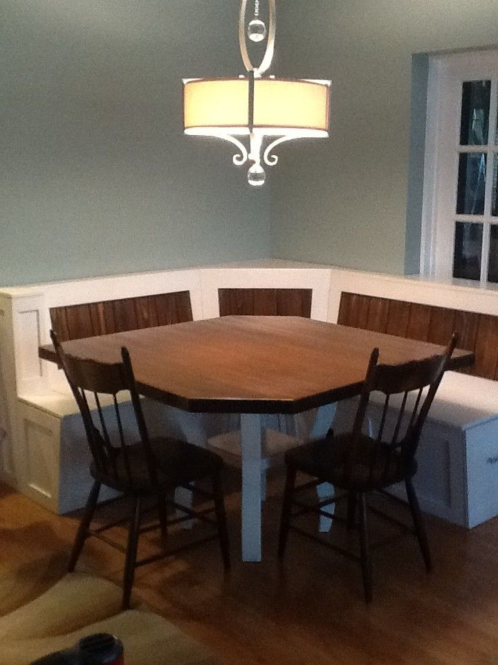 Custom Made Breakfast Nook With Maple Table