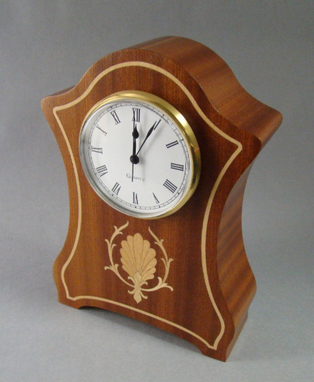 Custom Made Clock, Ribbon Sapele Handcrafted In The U.S. Mc-31