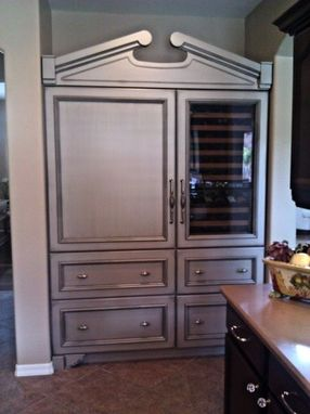 Custom Made Armoire with Custom Metallic Finish
