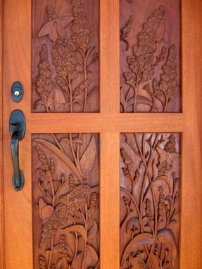 Custom Made Hand Carved Mahogany Entrance Doors
