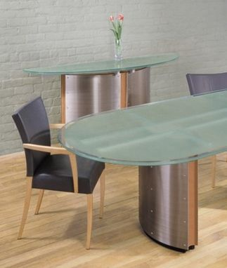 Custom Made Crescent Conference Table