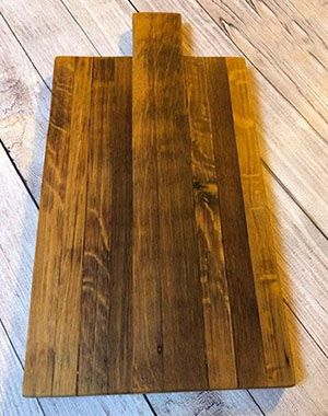 Custom Made Hand Carved Wine Barrel Cheeseboards