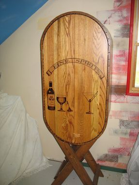 Custom Made Wine Cask Liquor Cabinet