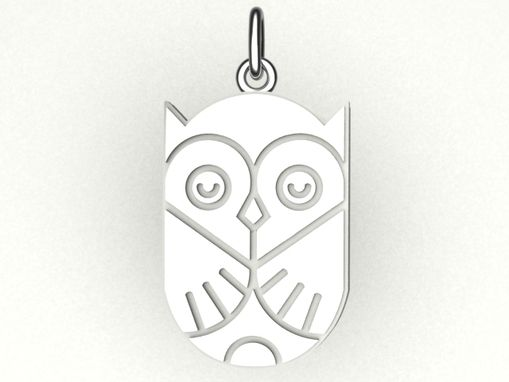 Custom Made Sterling Silver Owl Charm