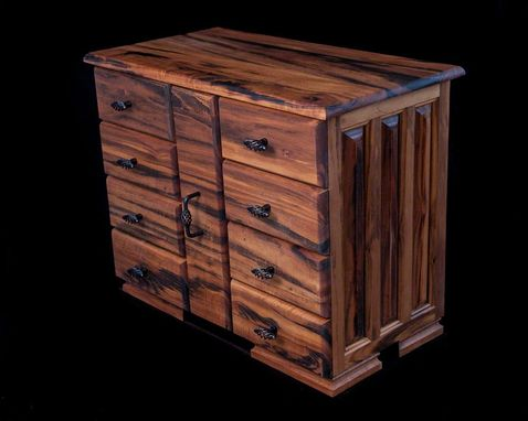 Custom Made Tigerwood Jewelry Chest