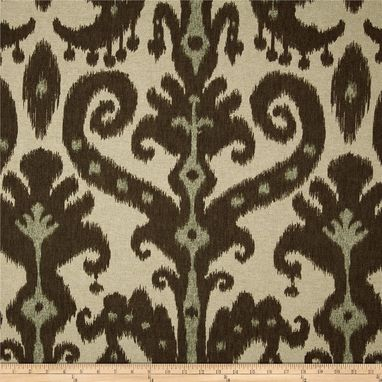 "Custom Made Custom Designer Curtain Panels Lacefield Marrakesh Ikat Batik Cobblestone Brown 96""L X 50""W"