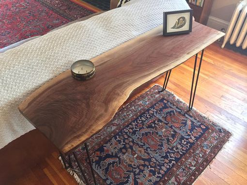 Custom Made Stockton Heritage's Curly Walnut Console Table