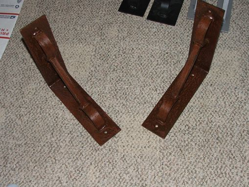 Custom Made Rusty Distressed Industrial Iron Shelf Brackets Supports