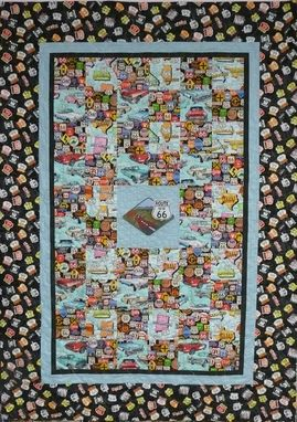 Custom Made Custom Made Route 66 Throw Quilt