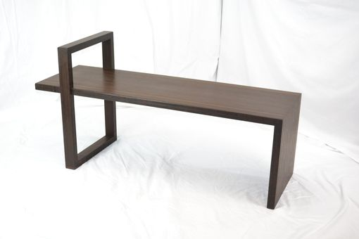 Custom Made Chocolate Bamboo Waterfall Bench