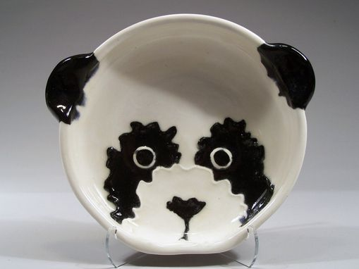 Custom Made Panda Bear Child's Dish - Handpainted In Porcelain Using Underglazes