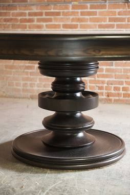 Custom Made Round Dining Table With Custom Turned Base