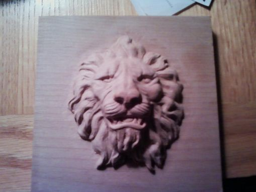 Custom Made Carved Lion Head