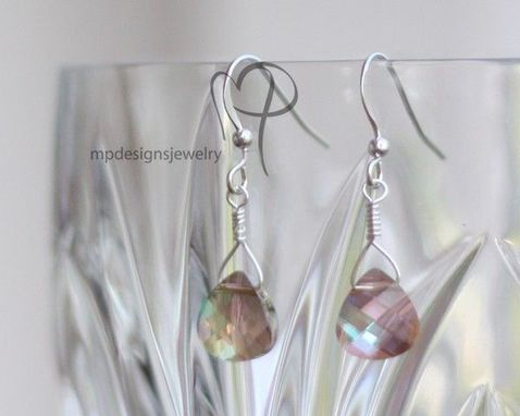 Custom Made Swarovski Crystal Bridal Elegance Teardrop Earrings