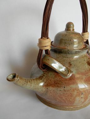Custom Made 8 Cup Teapot With Reed Handle