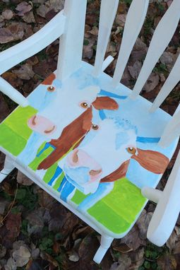 Custom Made Cow Print Rocking Chair